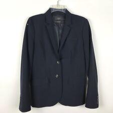 J. Crew 6 1035 Two Button Blazer Jacket Italian Stretch Blue Wool Career