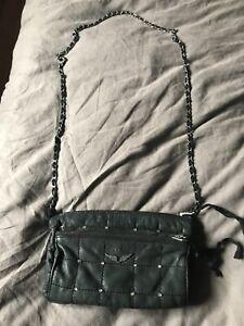Zadig Voltaire Women's Louisa Strass Black Leather Handbag