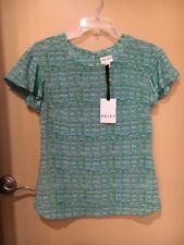 NWT Reiss Laila Fluid Sleeve Silk Top Blouse Eucalyptus Size 2 US