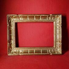 CADRE MONTPARNASSE BOIS  PATINÉ OR FEUILLURE : 18,5 x 28 cm