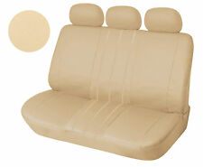 Leather Like Rear Seat Cover Zip Type For 60/40 Top Split Tan