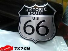 USA 66 ROUTE HISTORIC Side Rear Emblem Badge Decals Sticker Buick Cadillac