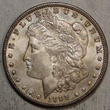 1888 Morgan Dollar, Choice Almost Uncirculated, Reverse Planchet Lamination