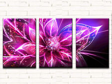 PINK FLOWERS LARGE CANVAS PRINTS SET OF 3 40x60 (ON FRAME) WALL ART
