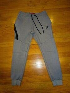 NIKE Men's Gray Heather Tech Fleece Joggers Pants Size S