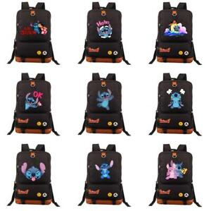 Lilo Stitch School Bags Backpack teenagers Travel Laptop Bag canvas sport bags