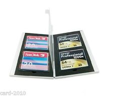Portable Aluminum memory card case for CompactFlash CF CARD CASE HOLDERS, 4 in 1