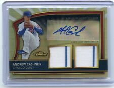 2011 TOPPS FINEST #87 ANDREW CASHNER AUTOGRAPH JERSEY #141/499, CUBS, PADRES