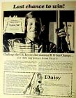 1968 Toy Gun Daisy International Kids Champs  Print AD