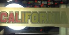 Vintage Iron Heat Transfer California Sparkly Colorful Bold Font Glittery Cute