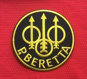 P. BERETTA PISTOL SHOTGUN RIFLE GUN MILITARY FIREARMS BADGE IRON SEW ON PATCH