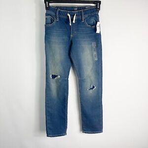 Gap Boys Size L - 10 Regular High Stretch Pull On Slim Denim Jeans NWT