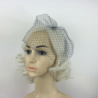 Black Charming Wedding Veil Bridal Birdcage Veils Net Fascinator with Comb