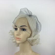Black Charming Wedding Veil Bridal Birdcage Veils Net Fascinator with Comb