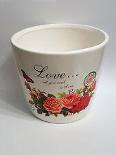 Love Keramik Topf Blumentopf Pflanze Deko shabby Frühling vintage Landhaus