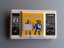 CASIO GAME&WATCH LCD WESTERN BAR CG-300 FULL WORKING HIGH CONTRAST READ LEER