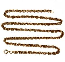 """14k yellow gold fancy hollow chain necklace 16.2g estate vintage 24"""""""