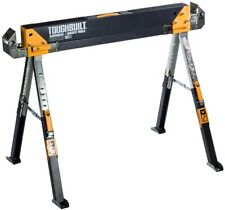 32 in. Sawhorse Adjustable Height Folding Table Portable Handle Single Support
