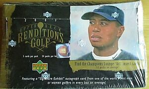 PGA TIGER WOODS 2003 UPPER DECK RENDITIONS GOLF SEALED BOX CARDS-WOODS AUTO??