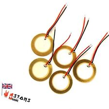 Cigar Box Guitar Part Parts - 27mm Piezo Discs For Pickup Pickups 5 PK