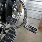 Chrome Motorcycle Highway Foot Pegs Rests For Harley Road King Fatboy Softail WY