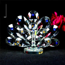 CRYSTAL PEACOCK ORNAMENTS CRYSTOCRAFT BEAUTIFUL MULTY COLOUR HOME DECOR