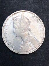 British India one rupee 1892  Silver