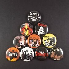 "SAMHAIN 1"" PIN BUTTON lot Danzig Misfits Initium November Coming Fire"