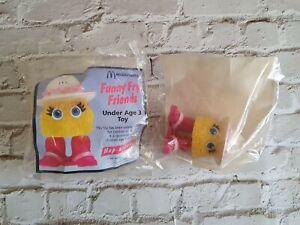 McDonald's Vintage 1992 Funny Fry Friends Hop Along Toy x2