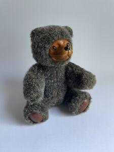 """Vintage Applause Robert Raikes Teddy Bear Plush Stuffed Toy 1985 Wooden Face 9"""""""