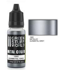 Metallische Farbe GUNMETAL GREY - Pinsel Airbrush Acrylfarbe Lack Grau