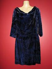 Andrew Marc Women's Black/Plum Velour Dress - Size 12 - NWT