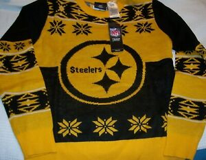 NFL Pittsburgh Steelers YOUTH SIZE M (10-12) Christmas Holiday Ugly Sweater NWT