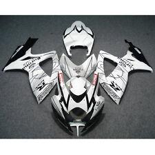 White Crown INJECTION Fairing Bodywork Kit For SUZUKI GSXR 600 750 06-07 K6 10B