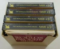 The Worlds Favorite Music Cassette Boxed Set 1986 Readers Digest with Booklet