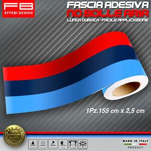 Fascia Striscia adesiva BMW M Performance adesivo Motorrad Motorsport 155x2,5cm