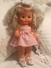 "Ideal Doll ~ Blonde Hair Painted Eyes ~ (1980) ~ 13"" Tall ~ Original Ideal Dress"