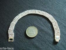 bracciale tennis strass moda swaroski cristallo bianco 4 fili  bigiotteria