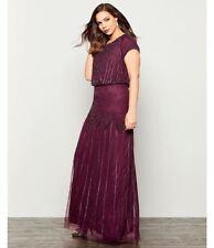 Adrianna Papell Beaded Blouson Gown (Plus Size) Sz 14W Mrsp $219