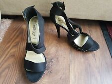 New Look Ladies Your Feet Look Gorgeous Black Suede High Heels Size 6