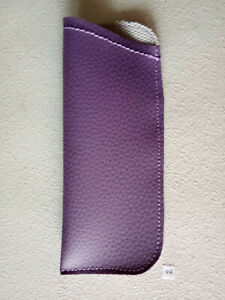 1 - HANDMADE Eyewear PURPLE Pouch READING Glasses Optical Soft Carry Case
