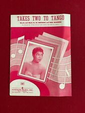 "1952, Pearl Bailey,""Takes Two To Tango"" Sheet Music (Scarce / Vintage)"