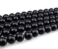 1 Strang Onyx Perlen Schwarz 12mm Poliert Halbedelstein Kugeln Edelstein  G185