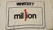 Vintage 80s Whatzit Milton Bradley T-Shirt Board Game Word Puzzle Brain Teaser