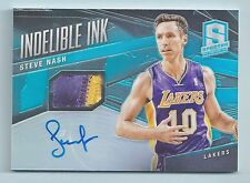 STEVE NASH 2013/14 SPECTRA INDELIBLE INK 2 COLOR PATCH AUTOGRAPH AUTO /25 LAKERS