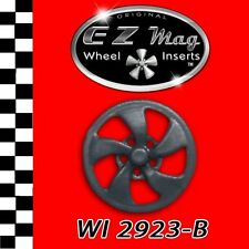 WI 2923-B Black Eliptical Style EZ Mag Wheel Inserts Fits Strombecker Slot Cars