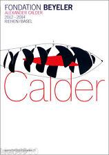 Alexander CALDER Fondation Beyeler Fish Mobile Poster Large 50x35