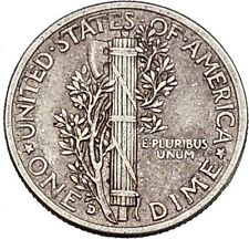 Mercury Winged Liberty Head 1943 Dime United States Silver Coin Fasces i43148