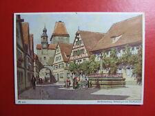 AK Ansichtskarte Postkarte, Paul Hey, Alt Rothenburg, Röderbogen und Markusturm
