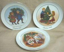 3 Avon 1st - 3rd Edition Plates Christmas Memories 1981 / 1982 / 1983